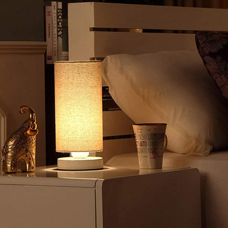JINQD Home hölzerne weiße weiße weiße tischlampe fütterung Lampe schlafsaal Schlafzimmer Lichter Tuch Studie Tuch Nacht-büro rund e27 nachtlicht B07Q982K5N | Flagship-Store  7e468b