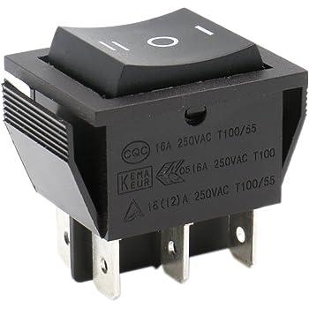 Her Kindness 25Pcs Interruptor Basculante 2-Terminales 2 Posicion ON//OFF DPDT Barco Interruptor Mecedora 6 A 250 V//10 A 125 V