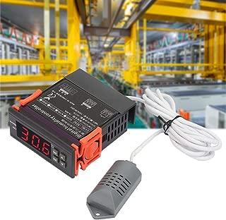 Air Humidity Controller, 220V LED Digital Air Humidity Control Controller SVWL-8040 Range 1%-99% RH HM-40 Type Sensor, Waterproof and Dustproof