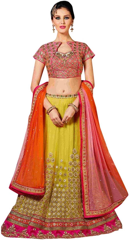 Stylish Bollywood Designer Party wear Embroidered Ghagra Indian Ethnic Lehenga choli for Women 7793
