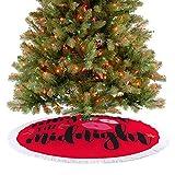 Falda de árbol de Navidad para decoración de árbol de Navidad, Año Nuevo, Kiss Me at Midnight, Why Wait Till Midnight, decoración de árbol grande, decoración de fiesta, decoración de Navidad,...