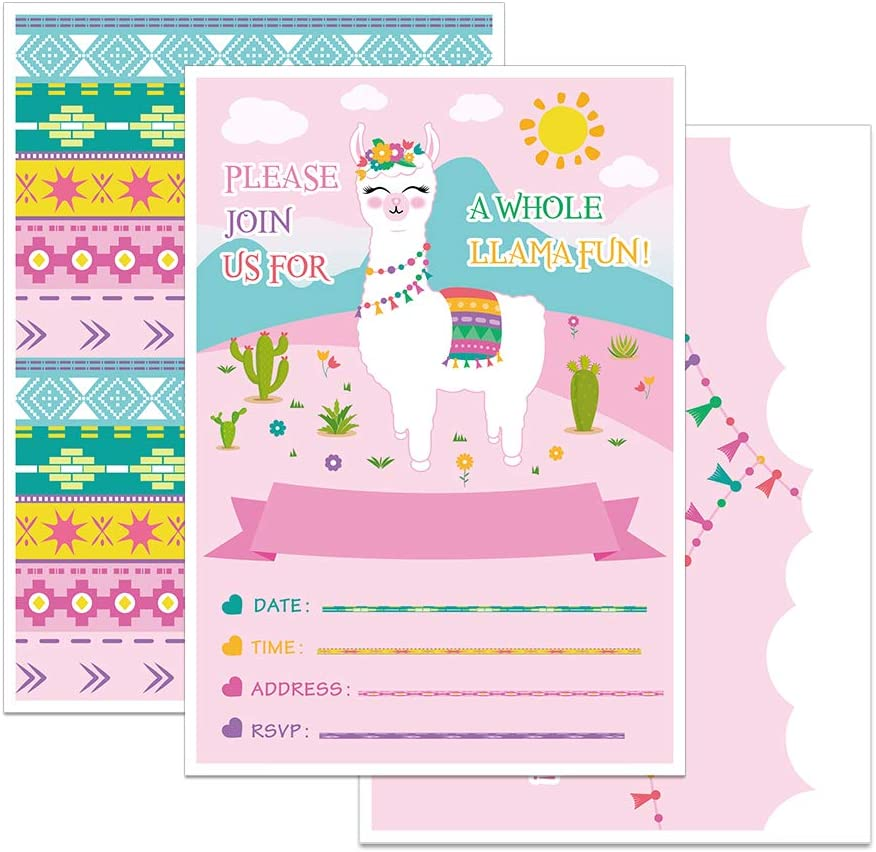alpaca llama birthday invitation seal origami llama baby shower envelope seal 10 Geometric Llama stickers modern llama wedding