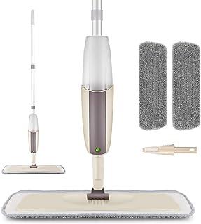 MEXERRIS Mopa Fregona de Microfibra Mopa Suelo con Vaporizador Integrado Capacidad de 300 ml