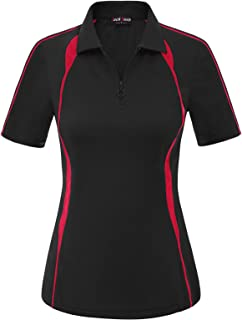 JACK SMITH Women Short Sleeve Moisture Wicking Sport Golf Polo Shirt Tops