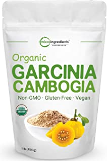 Sponsored Ad - Organic Garcinia Cambogia Weight Loss Powder, 1 Pound (454 Grams), Pure Garcinia Supplement, Natural Appeti...