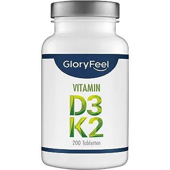 Vitamin D3 + K2 Depot - 200 Tabletten - Premium: 99,7+% All Trans MK7 (K2VITAL® von Kappa) + 5.000 IE Vitamin D3 - Laborgeprüft, hochdosiert hergestellt in Deutschland