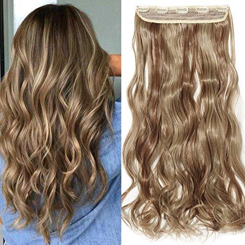 pequeño y compacto Pinza para el pelo con una longitud de 60 cm.  El cabello sintético se ve natural.  Cabello completo 3/4 de cabeza …