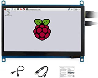 Waveshare 7 Inch IPS Screen 1024x600 Capacitive Touch Screen HDMI LCD Monitor Supports Multi Mini-PCs Like Raspberry Pi Je...