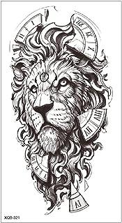3 stks nieuwe halve arm kleine volledige arm waterdichte zwart-witte bloem tattoo stickers schets grijs handgeschilderde t...