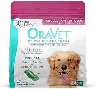 Oravet Dental Hygiene Chews for Large Dogs over 50 lbs