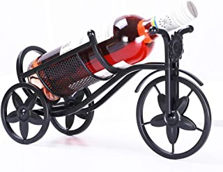 YAH Bicycle Metal Wine Rack Free Standing Bike Countertop Storage Holders Decorative Tabletop Bottle Holders Wrought Iron ...