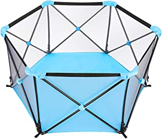 Baby Portable Foldable Playard Baby Playpen Baby Fence for 0-6Ages Kids Play Indoor and Outdoor, with Carry Case and Washa...