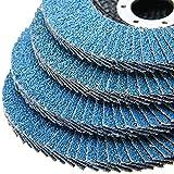 Tonchean 50 Pack 5 Inch Aluminum Oxide Flap Discs 40 Grit High Density Industrial Abrasive Grinding Wheel Flap Sanding Disc Sandpaper Wheel Grinder disc for Polishing Metal Stainless Steel and Wood