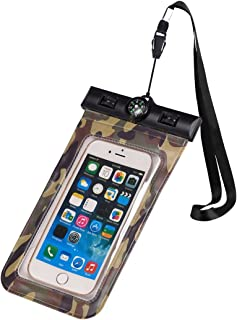 Any Warphone Floatable Waterproof Phone Case, Waterproof Phone Pouch Dry Bag with Armband and Compass for iPhone X, 8 Plus, 8, 7 Plus, 7, 6s, 6, Construction IPX8 Certified (Green)