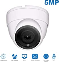 IP POE Dome 5MP Camera(Hikvision Compatible),Audio Super HD Security Camera with Microphone & ONVIF Supports,Indoor Outdoor Wide Angle 2.8 mm Lens IP66 Weatherproof 20m Night Vision#IPC-3150W