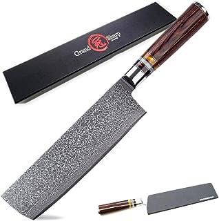 Couteau japonais acier de Damas Nakiri couteau légumes Cleaver cuisine Ustensiles de cuisine Couteaux VG10 japonais Coutea...