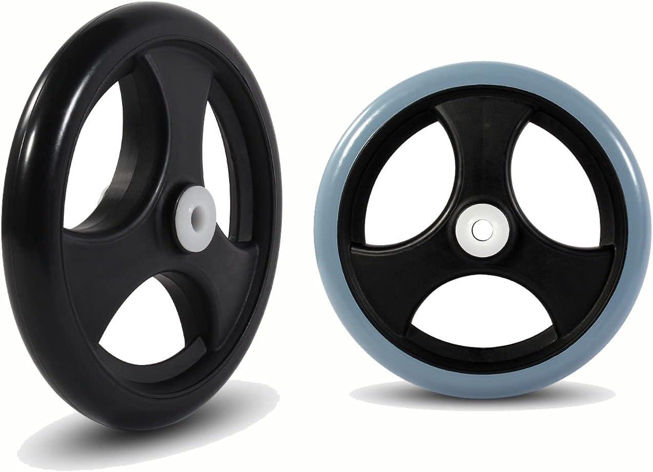 ASDFGHJ Bargain Durable Wheelchair Wheels Our shop most popular F PVC Silent Tires