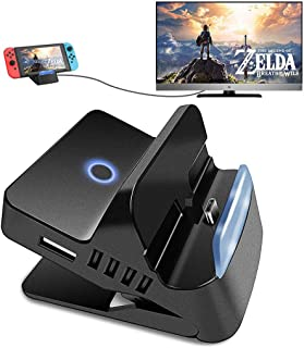 Dolloress HDMI Video Charging Dock Station Conversion Charger Base with Anti-slip Bottom Good Heat Dissipation for NS Swit...