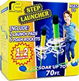 Toy Rocket Launcher for Kids: Best Jump Rocket Launchers Outdoor Toys for Boys & Girls All Age. Fun Summer Step Air Foam Rockets Refill 6 Pack Dueling Yard Games. STEM Gifts Ages 4 5 6 7 8 9 11 & Up