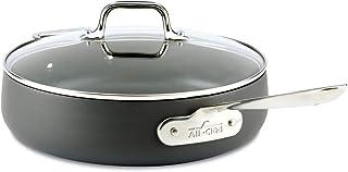 All-Clad E7853364 HA1 Hard Anodized Nonstick Dishwasher Safe PFOA Free Saute Pan Cookware, 4-Quart, Black
