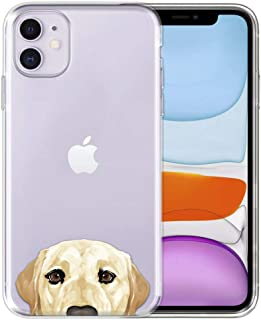 FINCIBO Case Compatible with Apple iPhone 11 6.1 inch 2019, Clear Transparent TPU Silicone Protector Case Cover Soft Gel S...