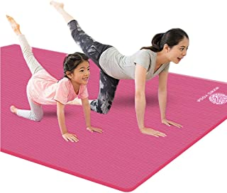 YUREN Large Thick Workout Mat for Home Gym Comfortable Soft 1/2 Inch Extra Thick 4X6 ft Extra Wide Non Slip Cardio Pilates Extra Large Yoga Exercise Mat