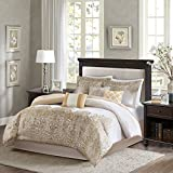Madison Park MP10-1431 Vanessa 7 Piece Comforter Set, Gold