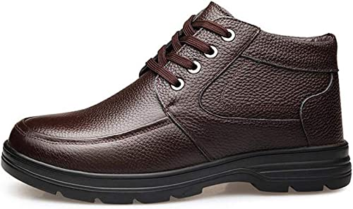 Hy Herren Formelle Schuhe, Winter Warm Windproof Comfort Driving Schuhe, Lace Up Formelle Business-Schuhe, Casual Schuhe Büro (Farbe   Braun, Größe   45)