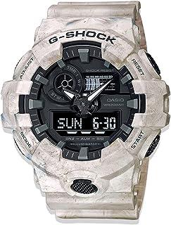 CASIO G-Shock Patterned Resin Band Shock-Resistant Analog Digital Watch For Men - Beige