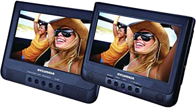 Sylvania 10.1-Inch Dual Screen Portable DVD Player with USB Card Slot to Play Digital Movies""