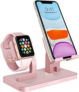 BENTOBEN Watch Stand Cell Phone Stand Charging Dock Station Holder Support for Watch NightStand Mode and with Various Phon...