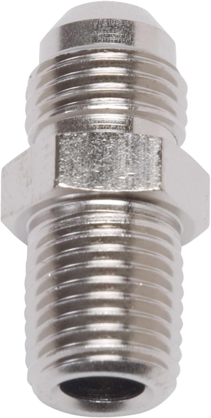 Edelbrock 660103 Fitting #6 An Male To 1//8 Npt Male 45 Deg Elbow Blk Anodized