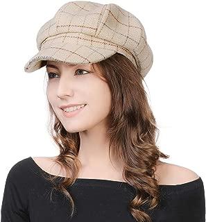 2019 New Womens Visor Beret Newsboy Hat Cap for Ladies Merino Wool