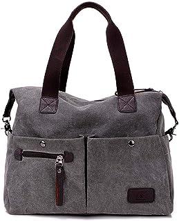 DNFC Damen Handtasche Canvas Schultertasche Groß Umhängetasche Schöne Vintage Henkeltasche Modisch Beuteltasche Shopper Ta...