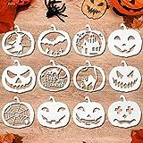 HOWAF 12 Piezas Halloween Plantillas Dibujo niños plástico Pintura Halloween Calabaza tallar...