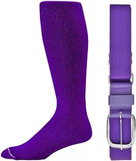 Joe`s USA - Baseball Socks & Belt Combo Set (All Sizes & Colors Available)
