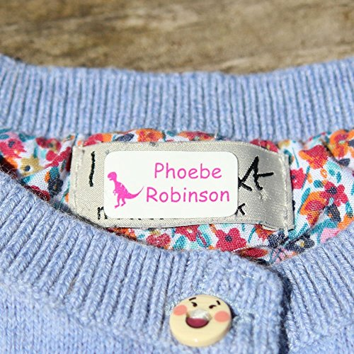 Stick 'n Wash No-Iron Self Adhesive Name Labels to go in Clothing or on Property (30 Labels)