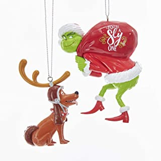 grinch and max christmas ornament