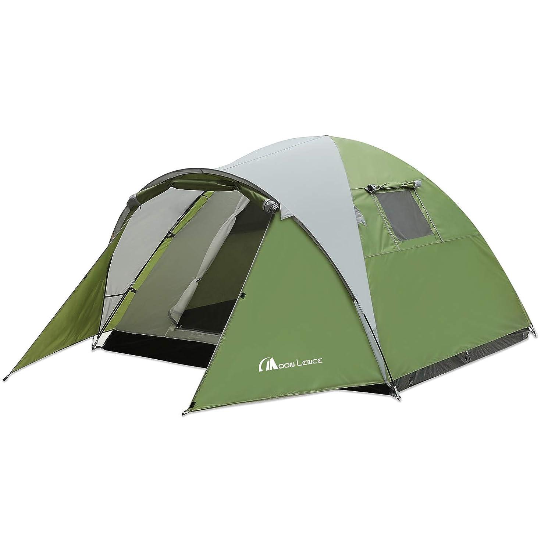 の中で振動する記事Moon Lence テント アウトドア用 3~4人用 登山 キャンプ 前室あり 組立簡単 二層構造 通気 防雨?防風?防災 UVカット