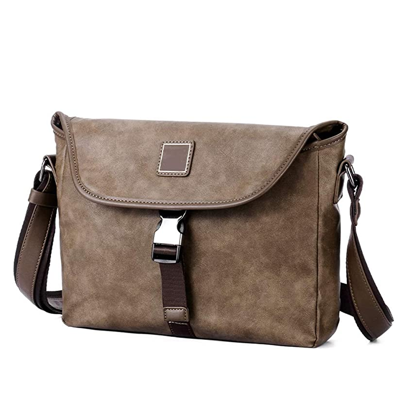 NY-close Men's Messenger Bag, Shoulder Bag Strap, Chest Backpack, Business Backpack, Leather Sling Bag, Chest Backpack, Men and Women Suitable for Outdoor Running, Camping, Hiking