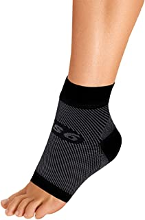 OrthoSleeve FS6 Compression Foot Sleeve (Single Sleeve) for Plantar Fasciitis, Heel Pain, Achilles Tendonitis and Swelling