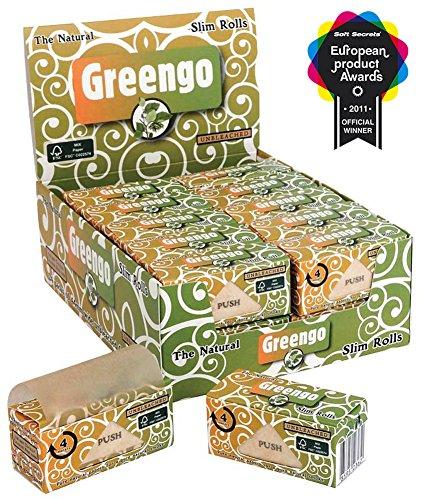 Greengo Slim Rolls 4m ungebleichtes Endlospapier 1 Box (24 Rolls)