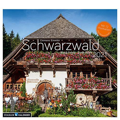 Schwarzwald 2021: Postkarten-Tischkalender