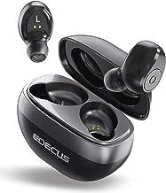 Auriculares inalámbricos, [actualizados] EDECUS TE1 Bluetooth auriculares con 35H tiempo de reproducción, Bluetooth 5.0 Deep Bass estéreo inalámbricos, cancelación de ruido, micrófono integrado Bluetooth auriculares con funda de carga