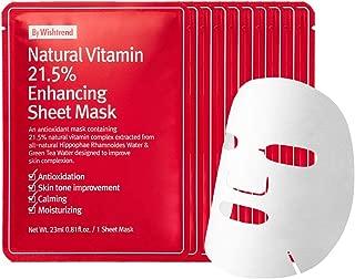 Natural Vitamin 21.5 Enhancing Sheet Mask 10 sheets, fully deliver vitamin to your skin