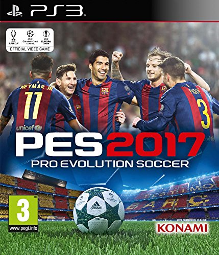 Konami Pro Evolution Soccer 2017, PS3 Básico PlayStation 3 Inglés vídeo - Juego (PS3, PlayStation 3, Deportes, Modo multijugador, E (para todos))