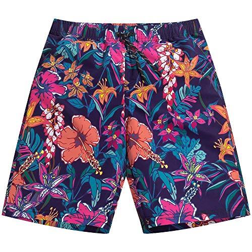 YOYVV Natación Pantalones Cortos de Playa Hombres Trajes de baño Traje de baño de Secado rápido Bañador Bañador Surf SurfBolsillos