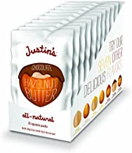 Justin's Chocolate Hazelnut Butter Squeeze Packs, Organic Cocoa, Gluten-free, Vegan, Sustainably Sourced, Pack of 10 (1.15...