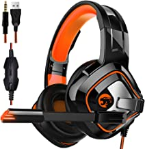 $27 » Gaming Headset,Proslife Game Headphones with LED Lighting 3.5mm Surround Sound Noise Cancelling Microphone for Laptop, Desktop, MAC, Xbox, PS4, Phone Tablet