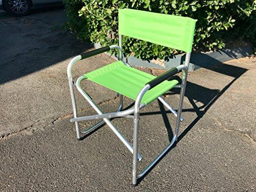 BIACCHI Sedia Regista Lusso Verde in Alluminio 685277 Marcata Eurolandia